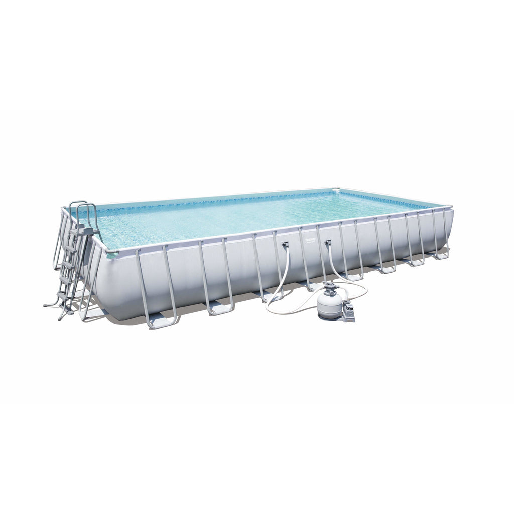 "Bestway 56623 - 9.56m x 4.88m x 1.32m power steelâ""¢ Rectangular Pool Set - rafplay"