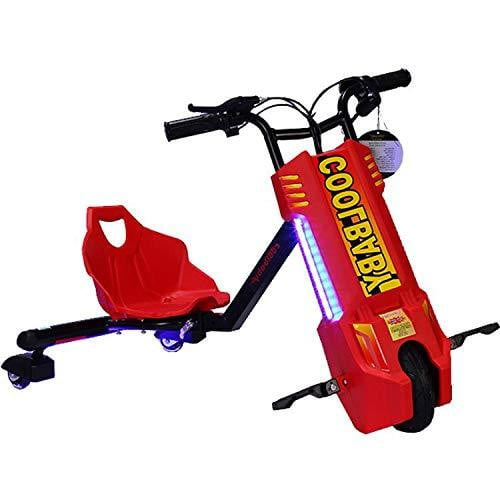 24 v Spinning Drift Triker with led lights n adjustable frame - rafplay