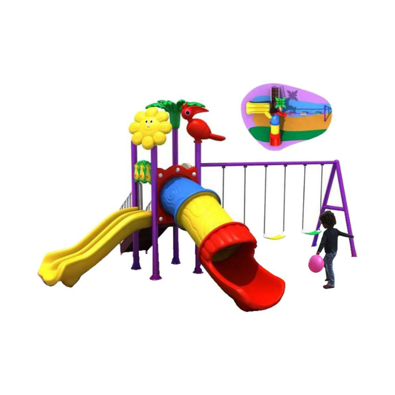 Raf - Mega Pino Wavy Slide And Swings SHA-16-011 - 540 x 380 x 300 cm - Metal playset - 650 x 435 x 325 cm