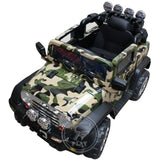 Raf ELECTRIC Ride On JEEP CAMOUFLAGE 12V 2.4G RC SOFT START AND RADIO - rafplay