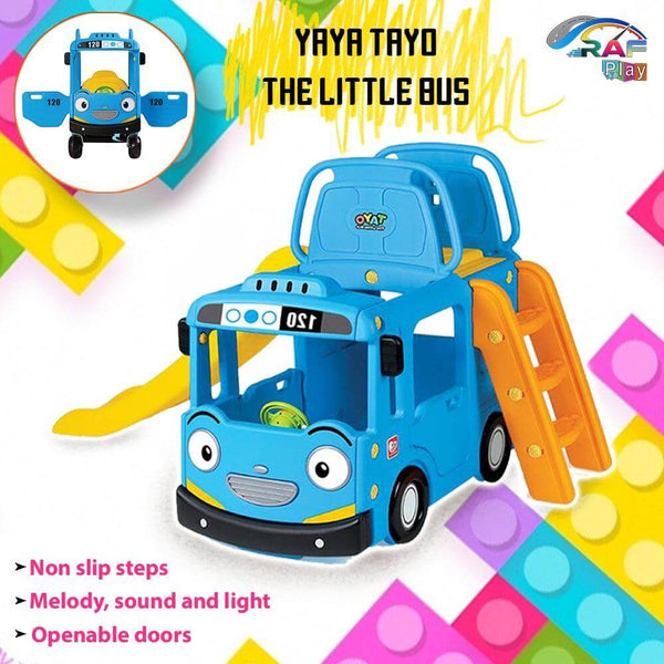 TAYO LITTLE BUS 3-IN-1 Rafplay SLIDE PLAY SET for Kids - MGA STAR MARKETING
