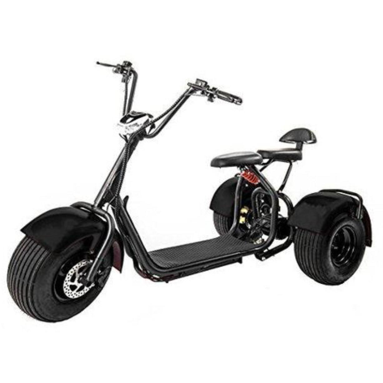 Tri Wheels 60 v Fat Tyre Coco Harley Trike with removable Battery - Rafplay