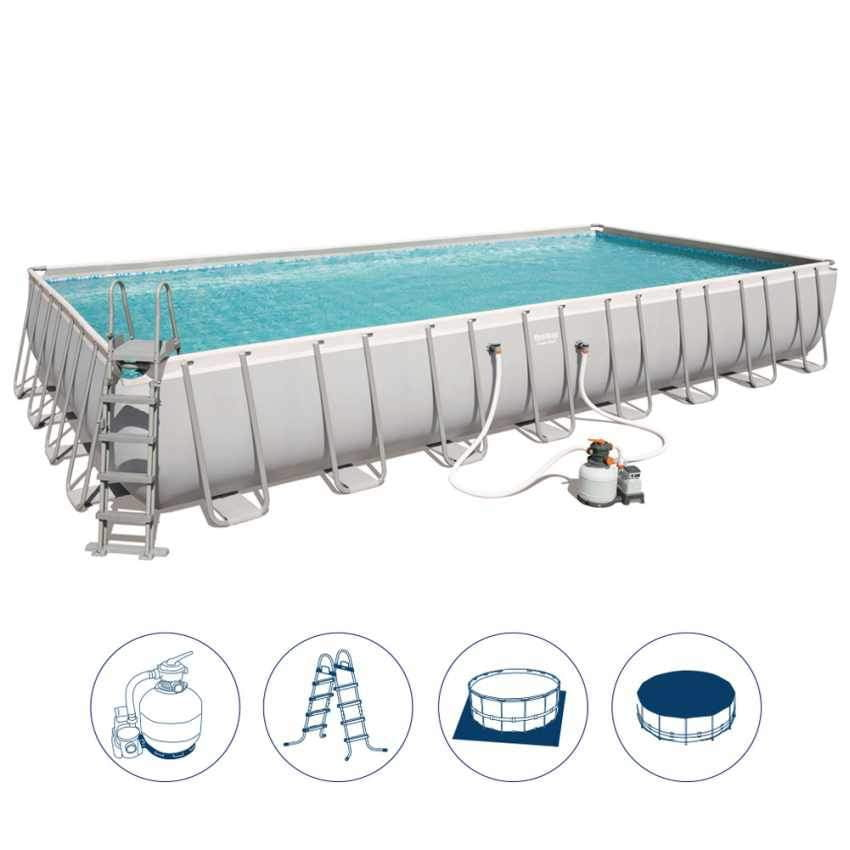 Bestway 56623 - 9.56m x 4.88m x 1.32m power steel™ Rectangular Pool Set - rafplay