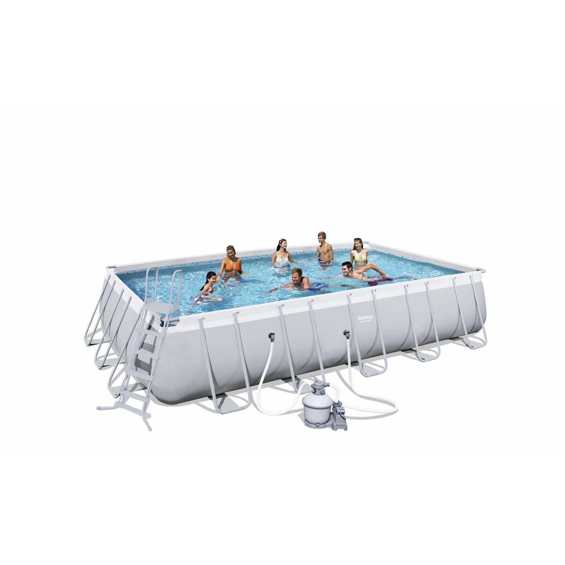 Bestway 56471 - 6.71M X 3.66M X 1.32M POWER STEEL™ RECTANGULAR POOL SET - rafplay