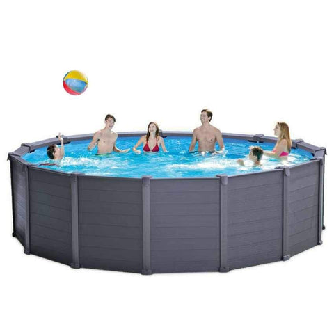 Intex Graphite Panel Pool 478x124cm Round