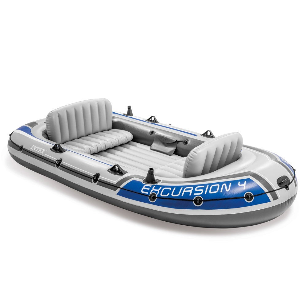 Intex Excursion 4 Rubber Dinghy Inflatable Boat Four Seats