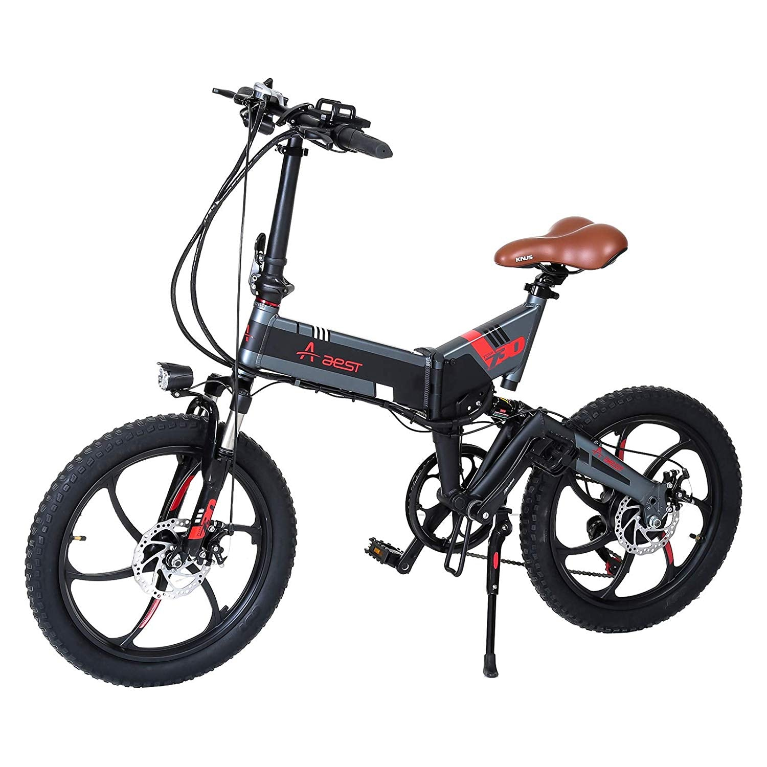 "Raf 48 V Folding Alloy Electric Bicycle  20"" - Grey - rafplay"