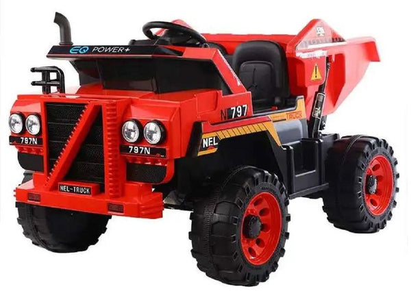 Raf Dump Tractor 12 v Off roader with 2seats with Real Dumping Function for kids