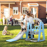 3in 1 Girls & Boy Playset With Slide , swing & Basketball hoop - 180 cms