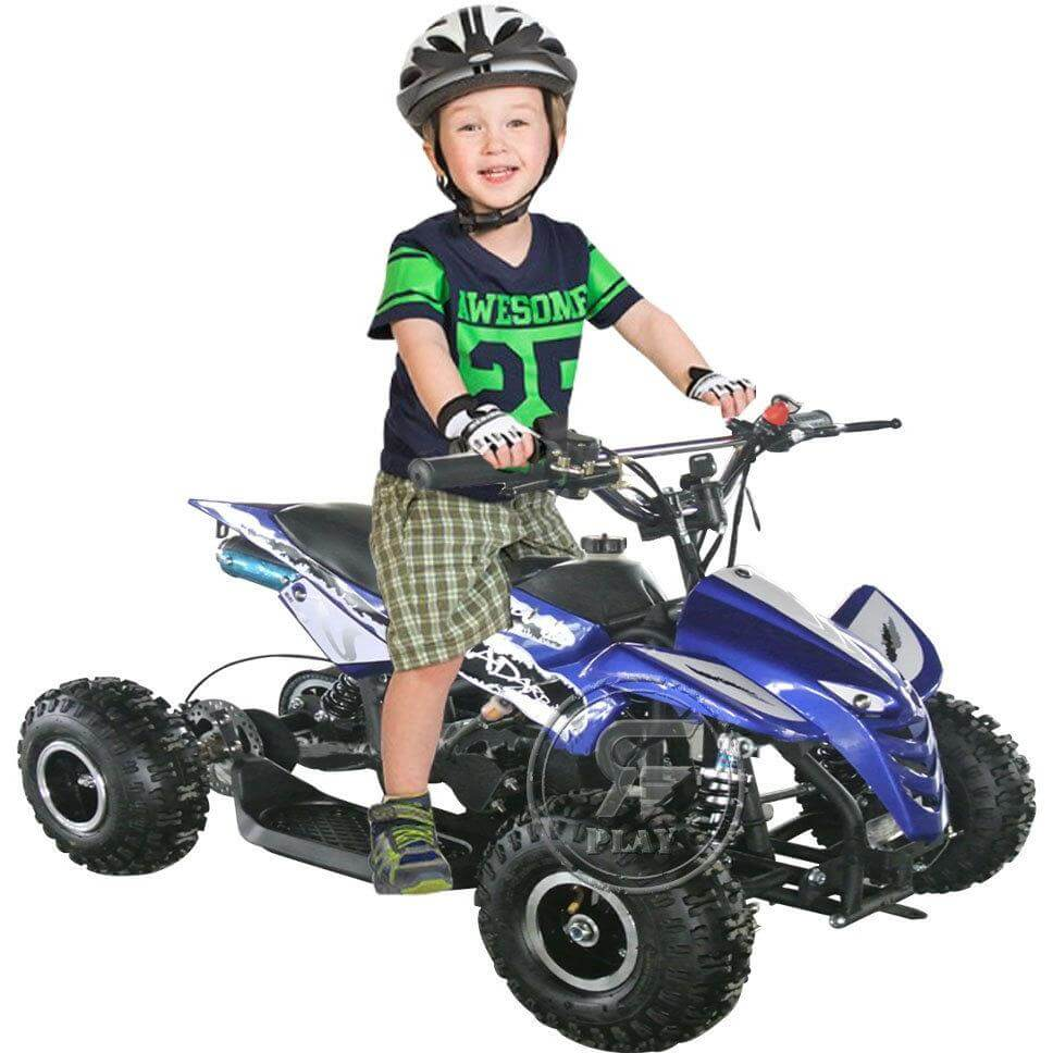 RAF ATV 49 CC  QUAD BIKE OFF ROAD FOR KIDS SKELETAL PULL HANDLE START - rafplay