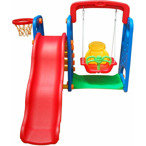 Climb slide n swing playset 3 IN 1 Playground  - Assorted  Colors - rafplay