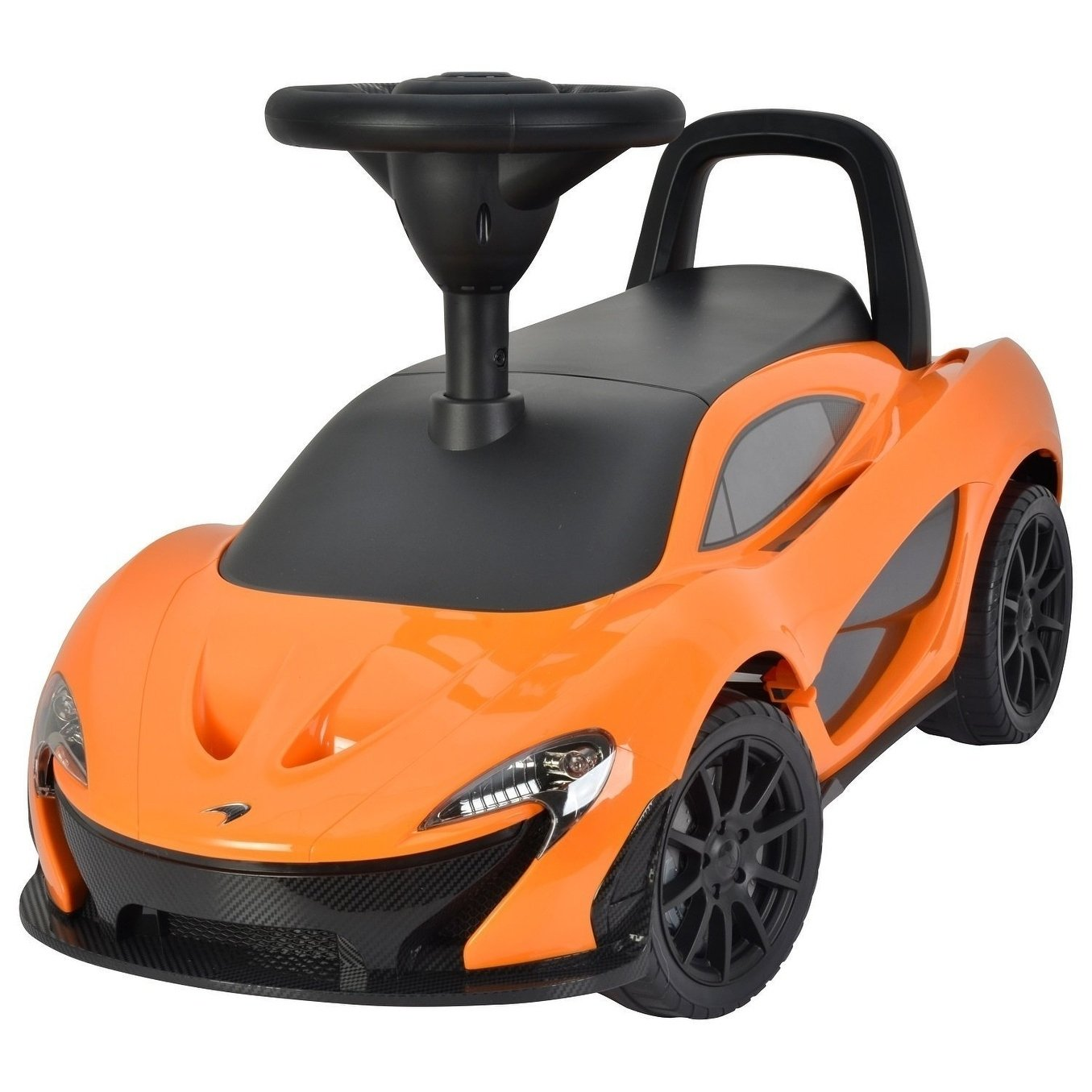 Rafplay LICENSED MC   LARREN CLASSY PUSH Ride On CAR -  ORANGE - rafplay
