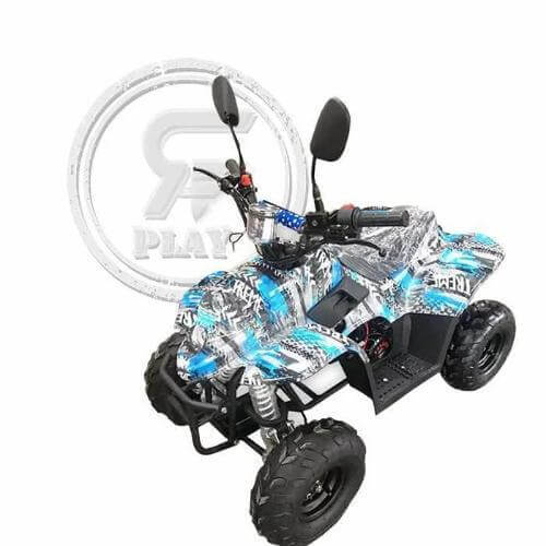 Rafplay ATV off-road fuel Quad Bike 110 CC black and white camouflage - rafplay
