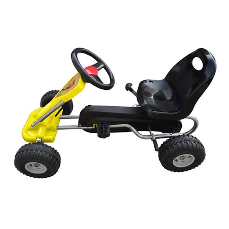yellow go kart for kids