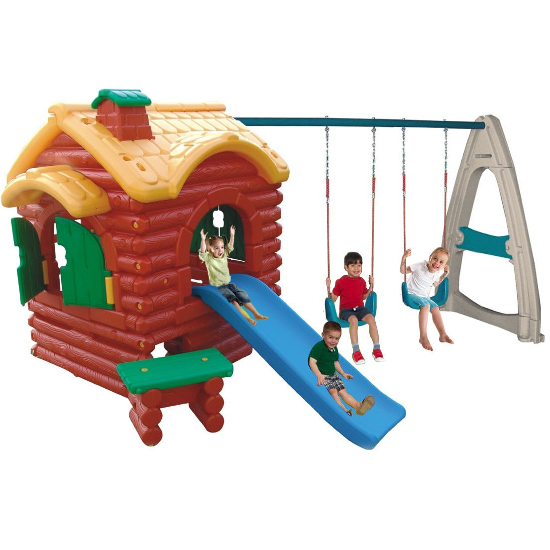 Jungle Bungle PlayToy Treehouse with slide and swings - rafplay