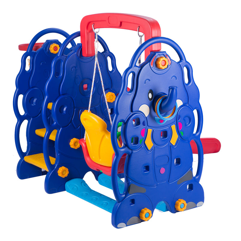 Jumbo Slide' Lap' Rock & Dunk 4 in 1  Play set  - Assorted  Colors - rafplay