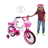 MEGAWHEELS Pretty Blossoms 20 inch and 14 inch Girls  BICYCLE WITH BASKET And back cushion ASSORTED