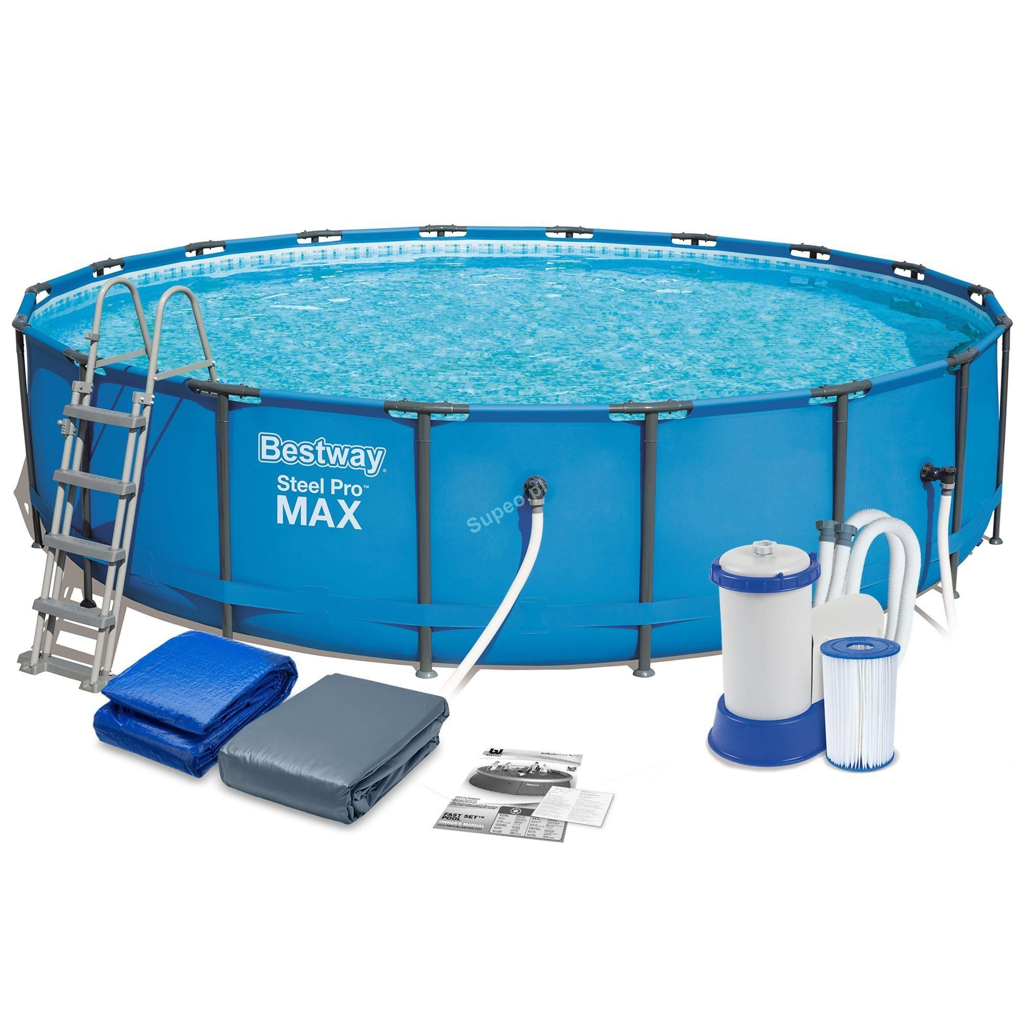 "Bestway 18' x 48""/5.49m x 1.22m Steel Pro Frame Pool Set"