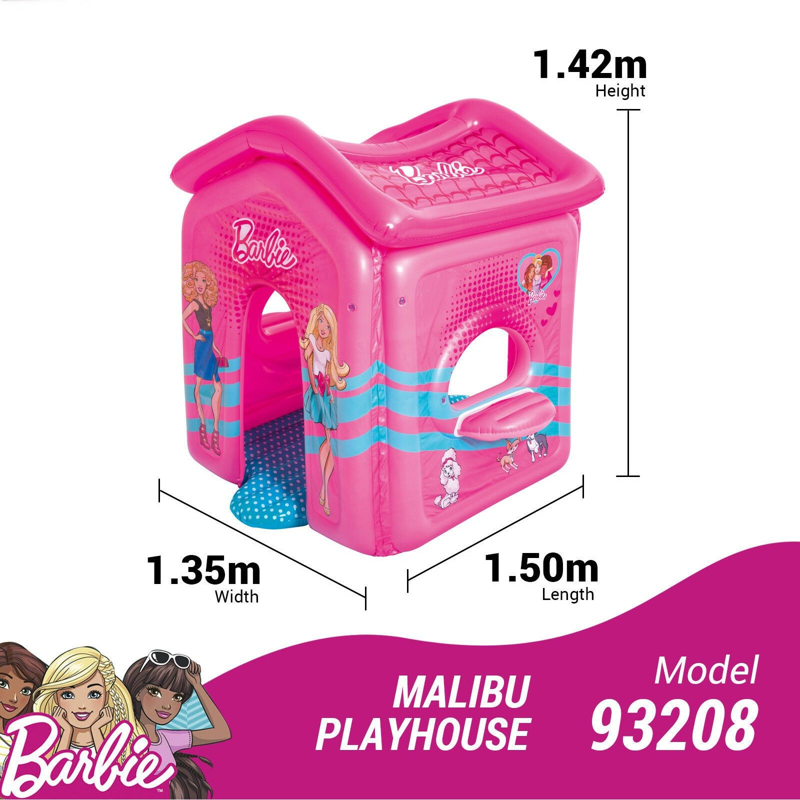 Bestway Barbie Malibu Playhouse