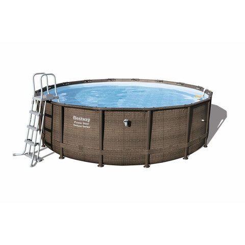 "Bestway 56444 - 14' X 48"" POWER STEELâ""¢ ROUND POOL SET - rafplay"