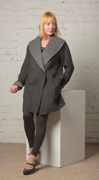 KATE Alpaca Fully-Reversible Coat --- Save $250!!