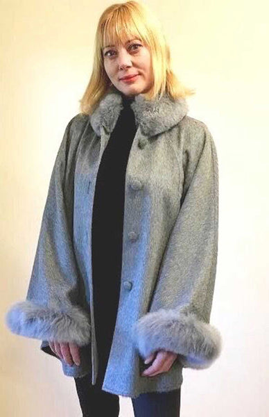 Madeleine Alpaca Fur Cape/Coat