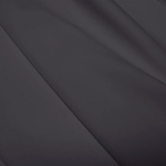 A flat sample of polyester lycra fabric in the color slate gray.