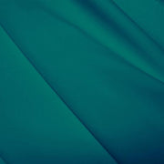 A flat sample of polyester lycra fabric in the color teal green.