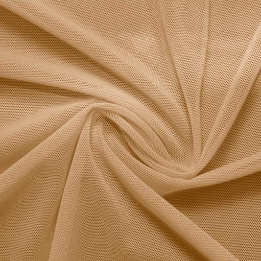 A swirled piece of Compression Mesh in nude.