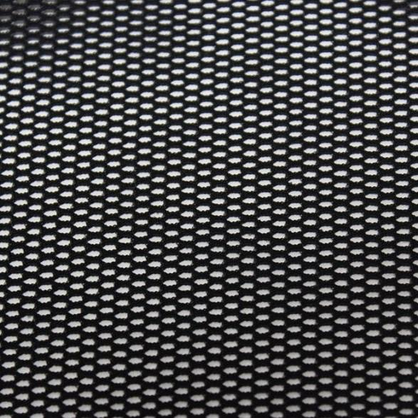 A flat sample of drift recycled fishnet in the color black.