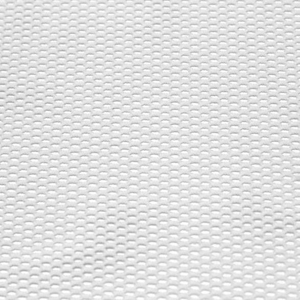 A flat sample of drift recycled fishnet in the color white.