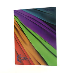 The front cover of the color card for Energize Activewear Nylon Spandex.