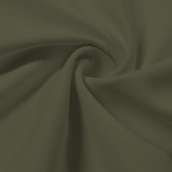 A swirled piece of Energize Activewear Nylon Spandex in the color dusty olive.