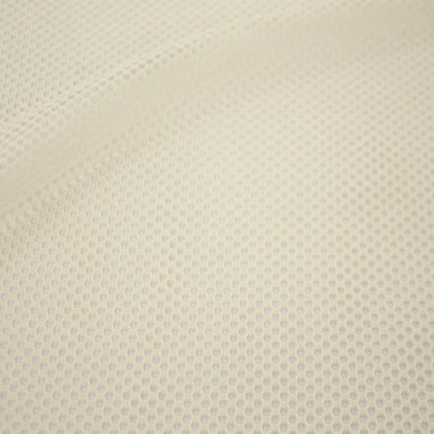 A flat sample of forte flair mesh in the color ivory.