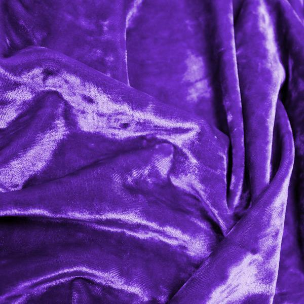 A crumpled pieces of Frozen Crushed Stretch Velvet in the color grape