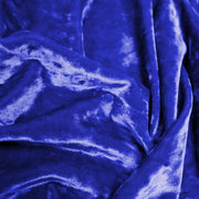 A crumpled pieces of Frozen Crushed Stretch Velvet in the color royal blue
