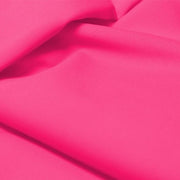 A flat sample of allure polyester spandex in the color bubblegum pink.
