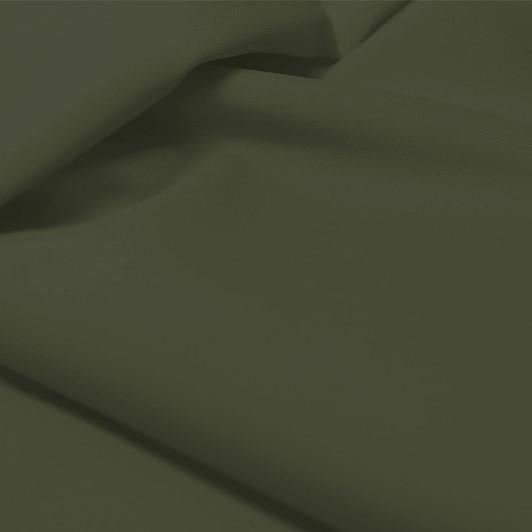 A flat sample of allure polyester spandex in the color deep olive.