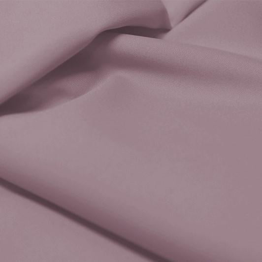 A flat sample of allure polyester spandex in the color grape mist.