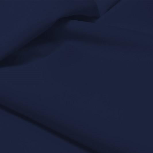 A flat sample of allure polyester spandex in the color navy.
