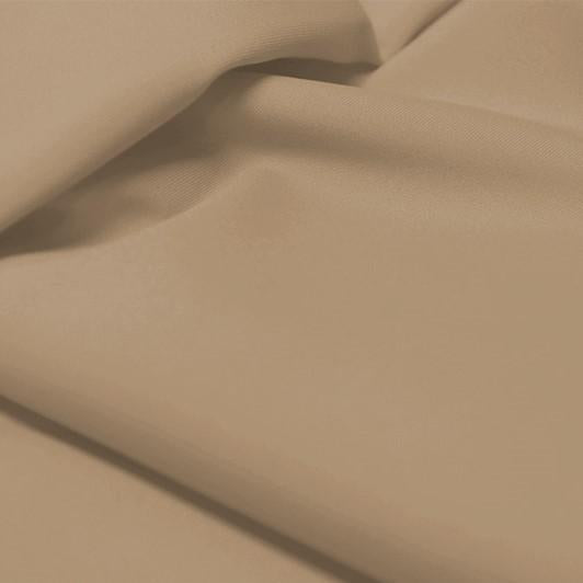 A flat sample of allure polyester spandex in the color taupe.