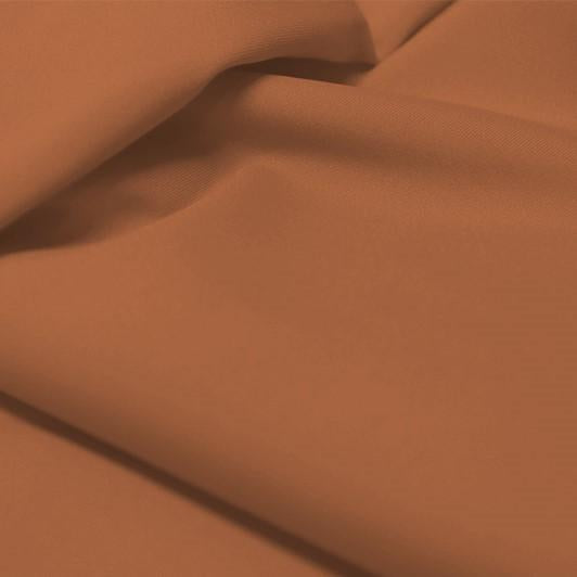 A flat sample of allure polyester spandex in the color terra cotta.