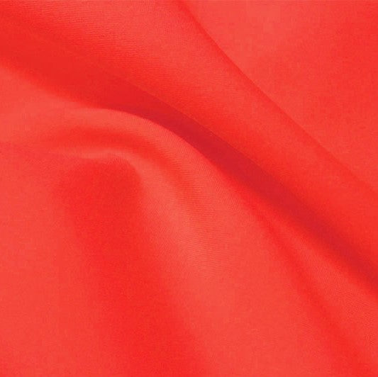 A flat sample of flexfilt recycled polyester spandex in the color fruit punch.