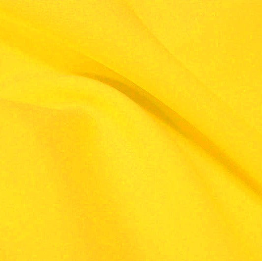 A flat sample of flexfilt recycled polyester spandex in the color sundrop.