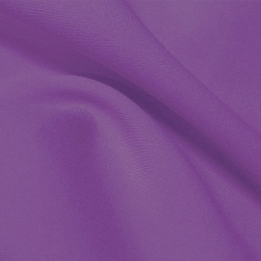 A flat sample of flexfilt recycled polyester spandex in the color violetta.