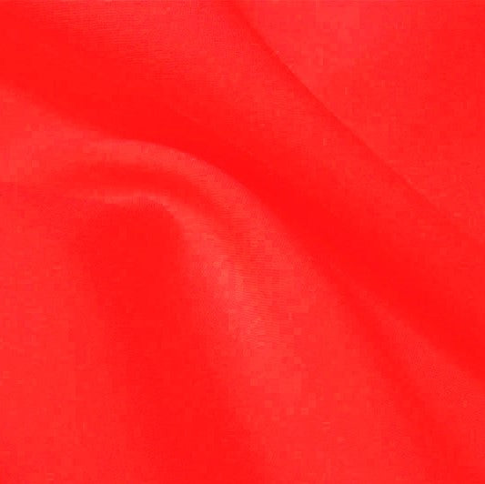 A flat sample of flexfilt recycled polyester spandex in the color vivid glow.