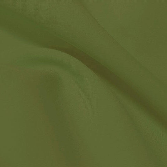 A flat sample of flexfilt recycled polyester spandex in the color wild sage..
