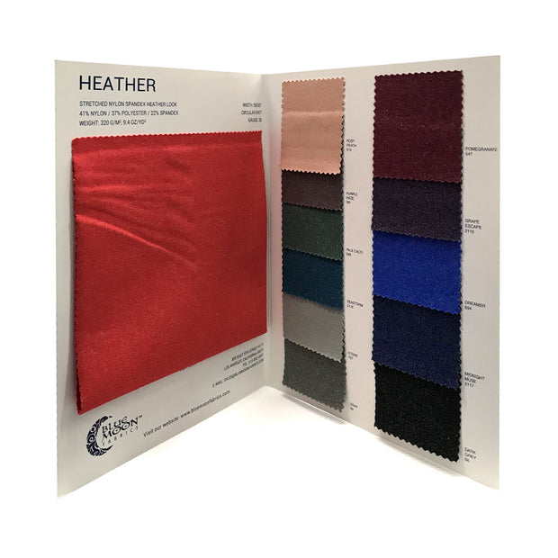 Heather  Spandex Color Card