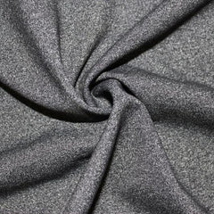 A close-up of Heather Spandex in the color dark gray.