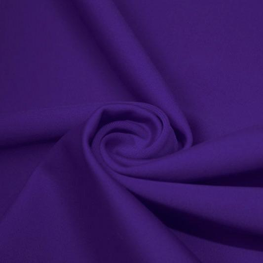 A swirled piece of matte nylon spandex fabric in the color lavender.